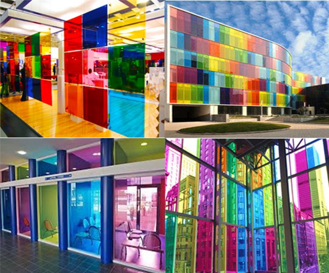 6.38mm multifarious color PVB laminated glass