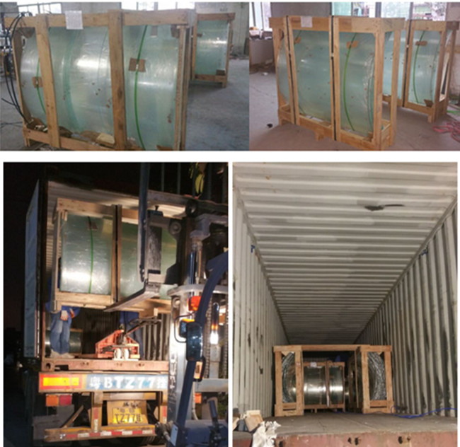 safety packing and loading the curved glass
