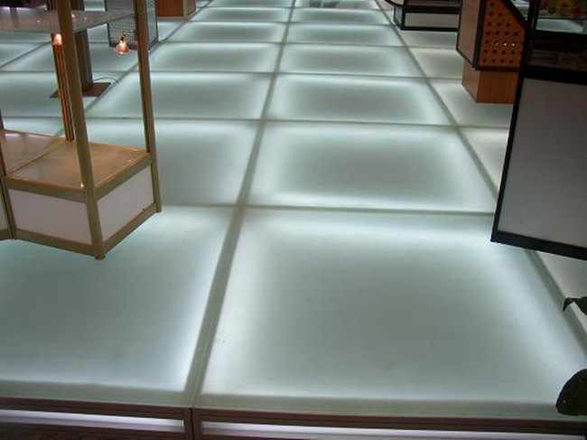 frosted anti-slip glass floor prices