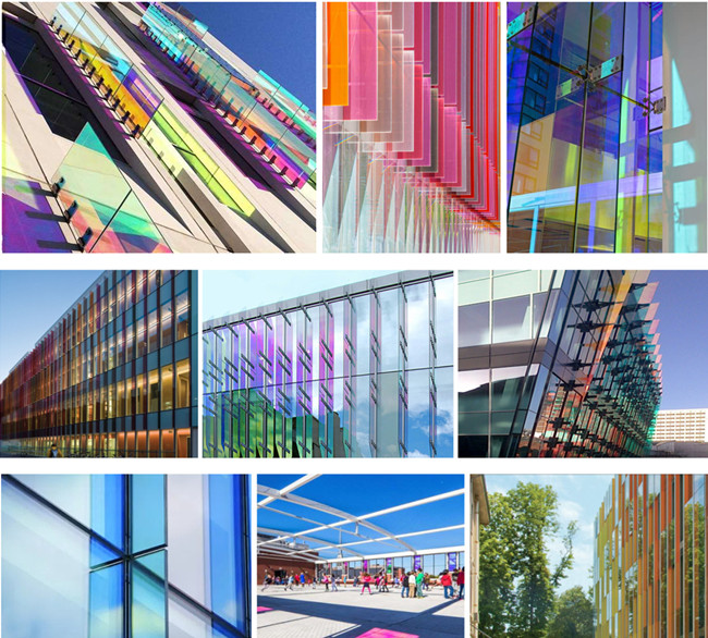 safety Laminated Dichroic glass fins
