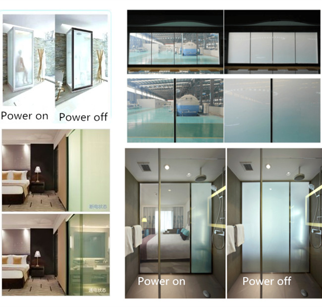 electric privacy exterior privacy glass film