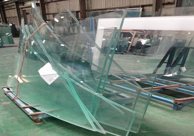 Curved tempered glass for shop counter