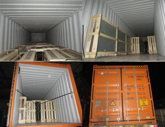 heat soaked glass packing and loading