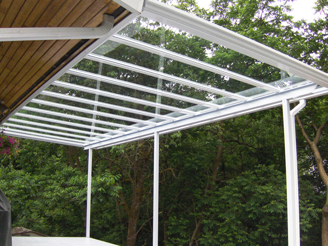 10mm clear tempered glass canopy