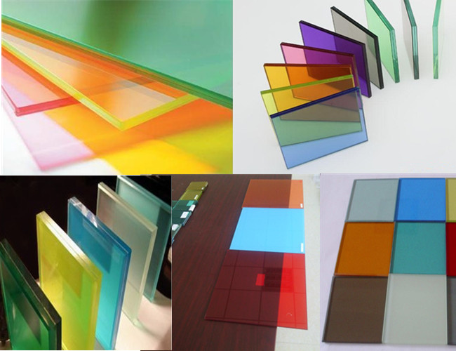 Color laminated glass factory China