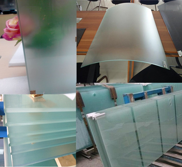 12mm semi transparent tempered glass doors