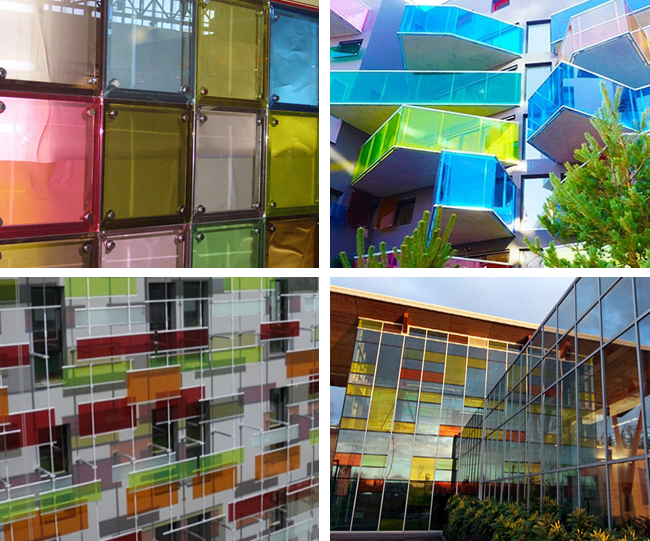security colorful decorative balcony window glass