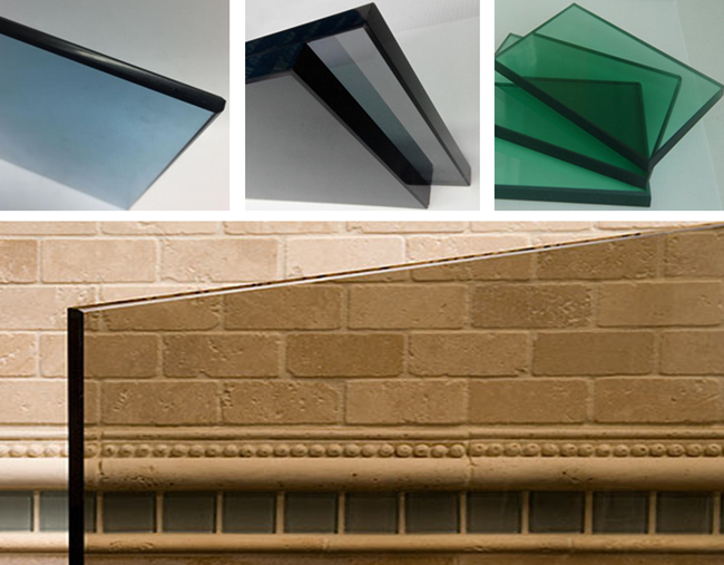 bronze blue green grey black color decorative safety tempered glass