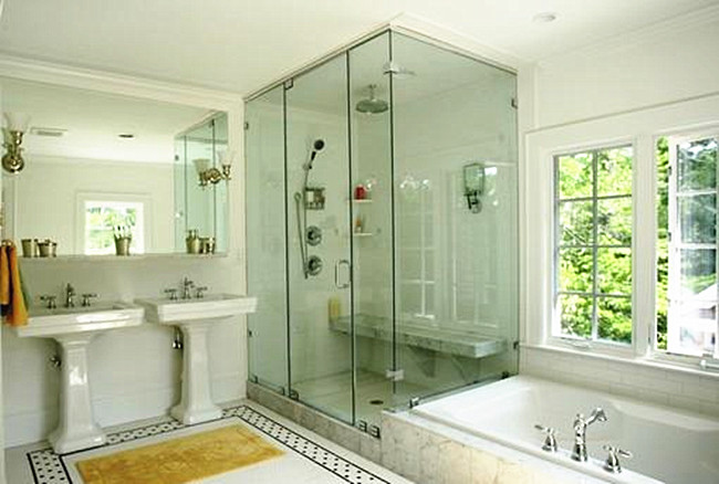 10mm tempered transparent glass bathroom