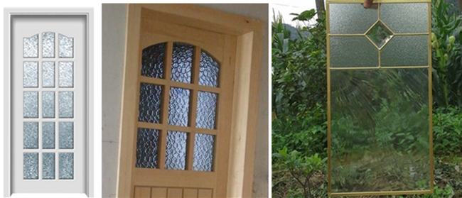 transparent pattern glass window and door
