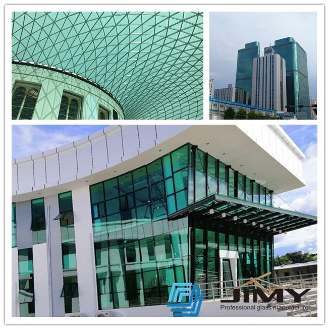 green glass curtain wall