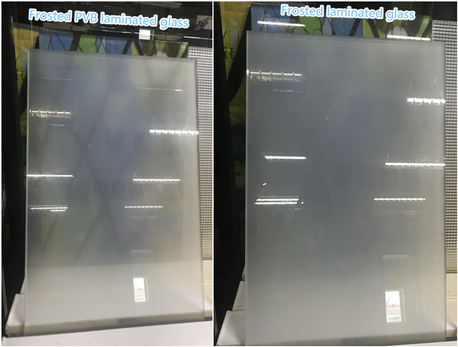 frosted laminated glass and frosted PVB laminated glass