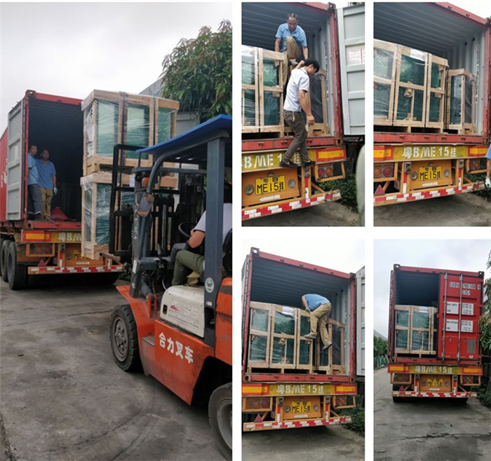 Shenzhen Jimy Glass safety package and loading