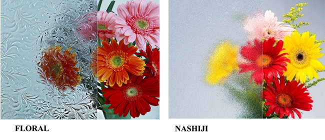 3mm clear Nashiji figured glass factory,