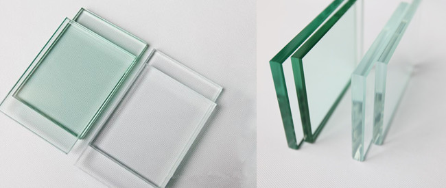 Compare low-iron float glass and clear float glass