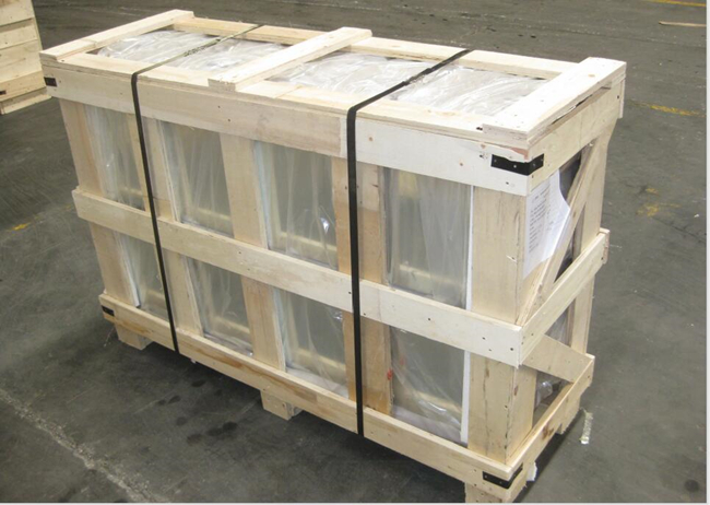 Packing of 13.52mm clear laminated tempered glass