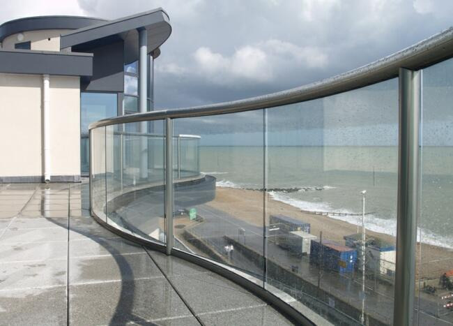 high quality tempered glass balustrade