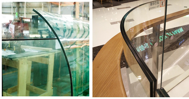 17.52mm curve tempered laminated glass
