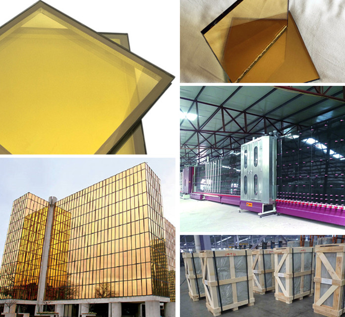 Energy saving golden color insulated glass for curtain wall
