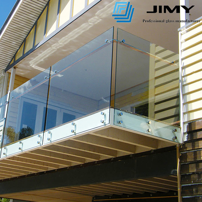 tempered laminated glass railing