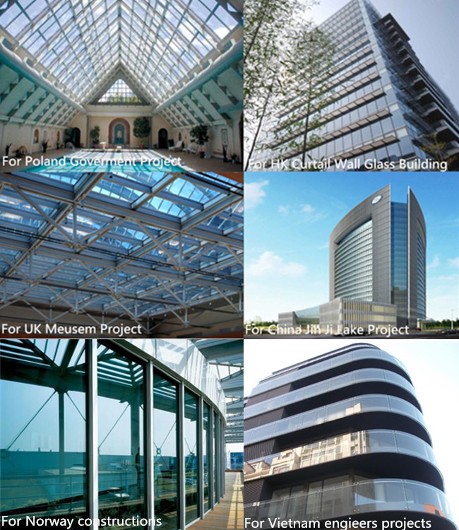 tempered laminated glass for buildings