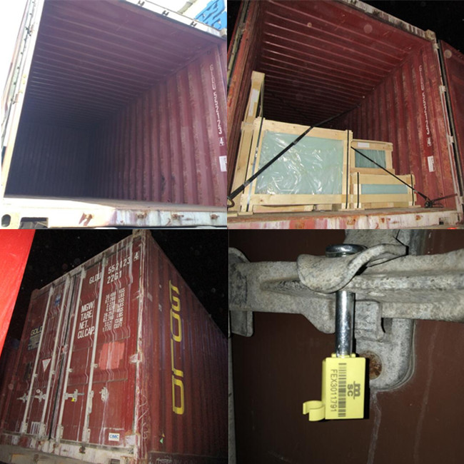 Loading the container