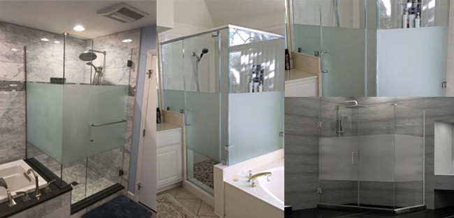 Acid etched glass shower door price