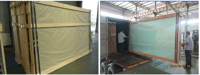 clear float glass packing and loading