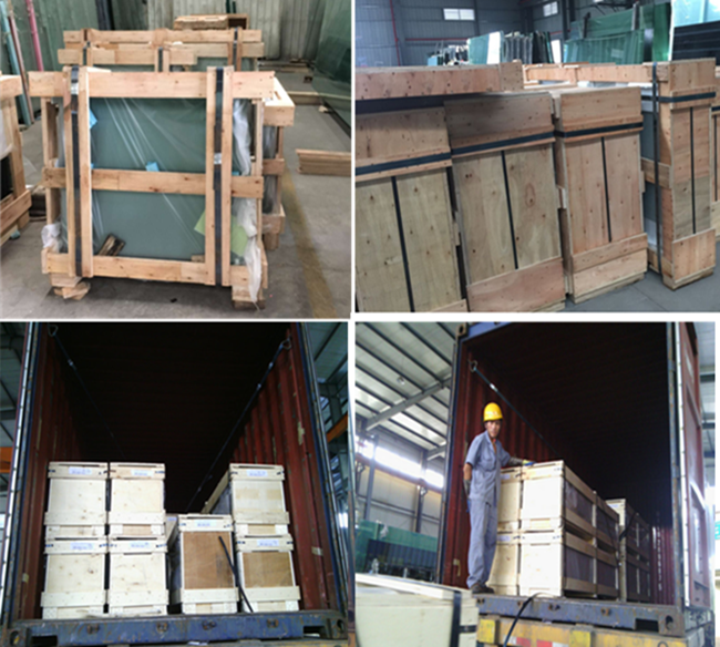 glass tops packing and loading