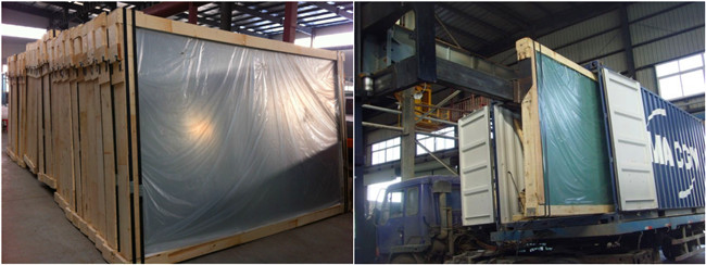 clear float glass strong packing