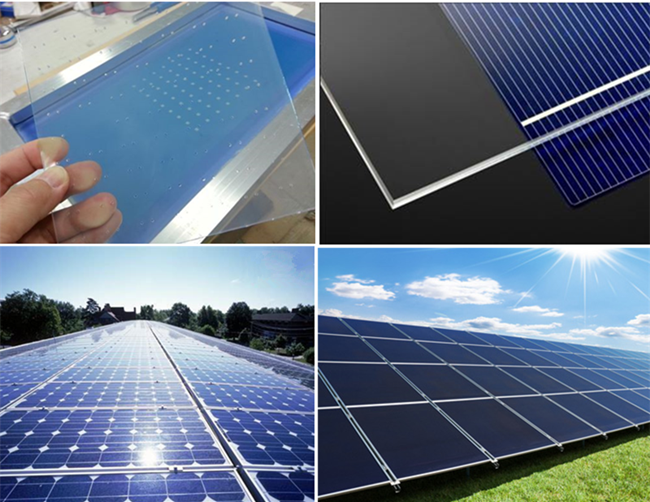 3mm Low iron pattern glass for solar panel