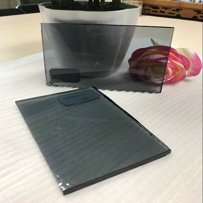10mm light grey tinted float glass panel