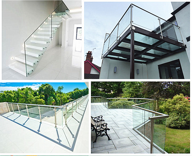 safety balcony guardrail glass
