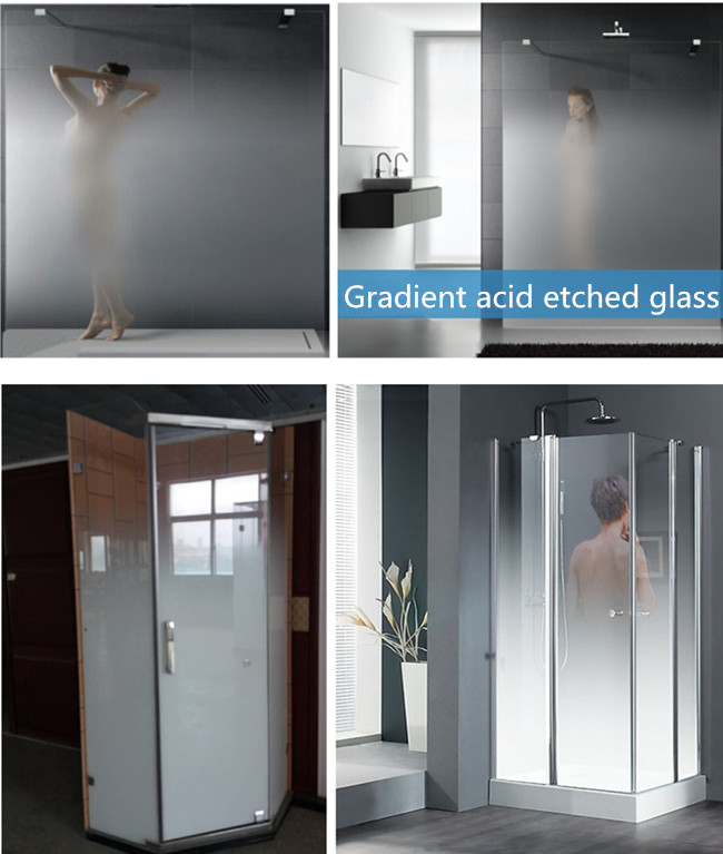 white Gradient Glass for Shower