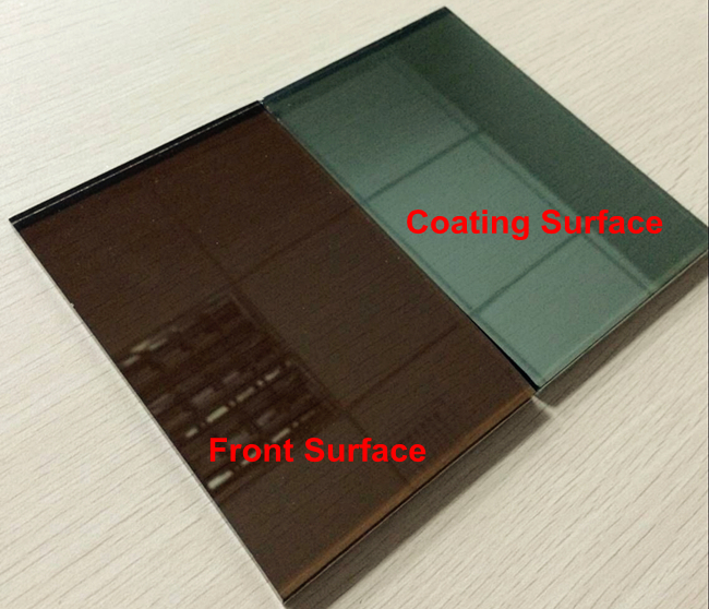 China 4mm bronze reflective glass