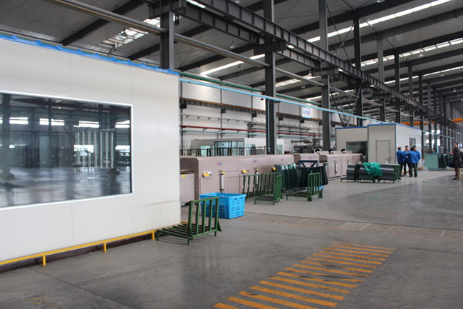 white color silkscreen glass factory