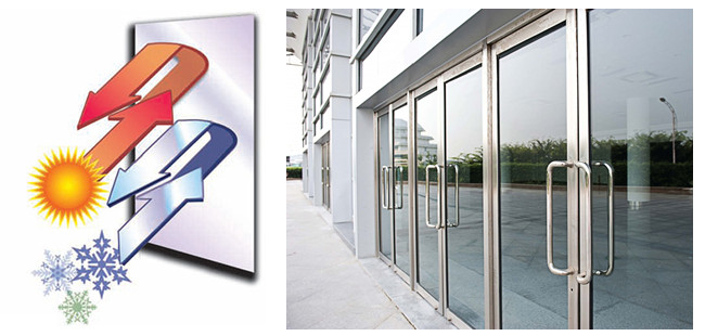 Tempered laminated low-E insulated glass door