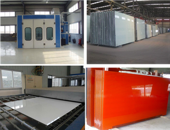 Lacquered Glass Tops Production