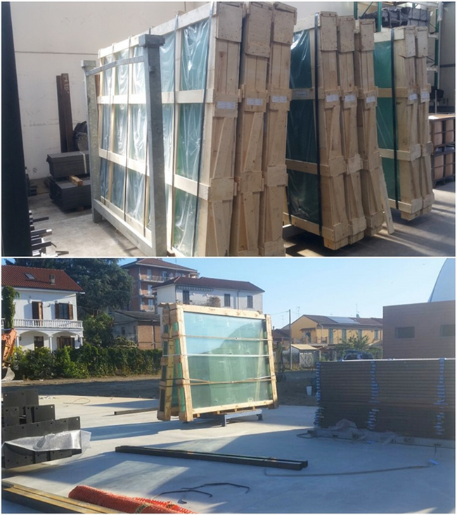 Packing of tempered glass
