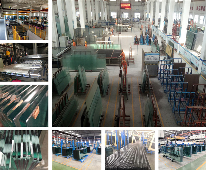 12mm clear  tempered laminated glass factory