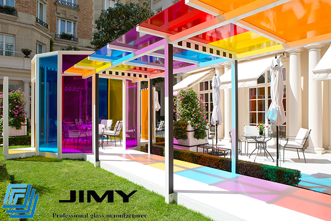 colored glass canopy