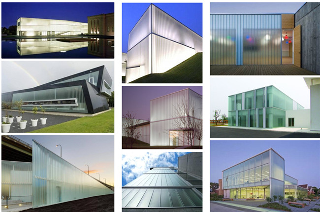 U profiled glass curtain walls