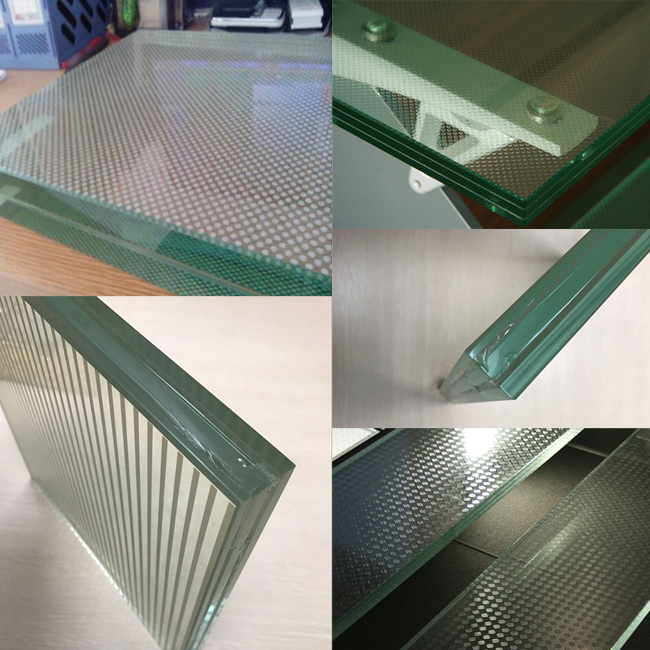 good price non-slip glass panels