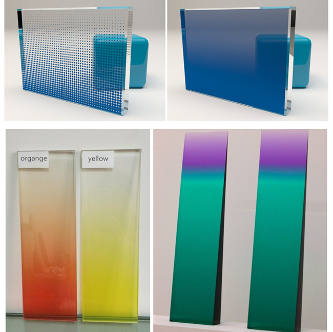 various design decorative gradient glass