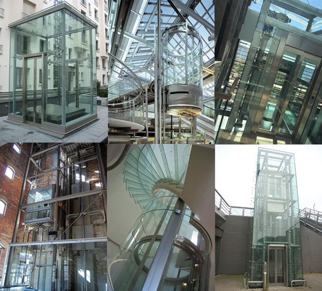 laminated safety glass elevator