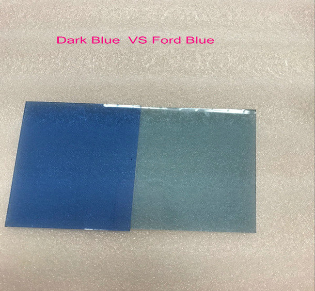 6mm dark blue float glass and 6mm Ford blue float glass