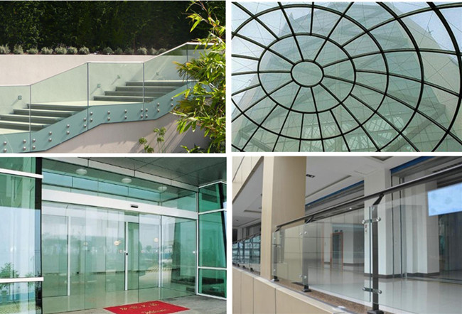 safty tempered laminated glass applications
