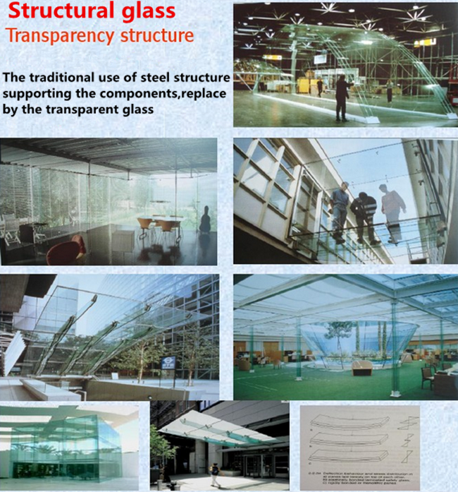 SGP laminated glass used on structural glass