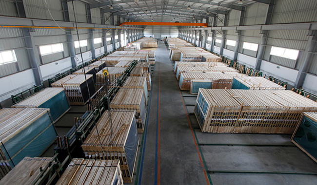 4mm bronze reflective glass warehouse