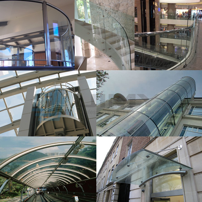 11.52mm curved laminated safety glass wholesaler